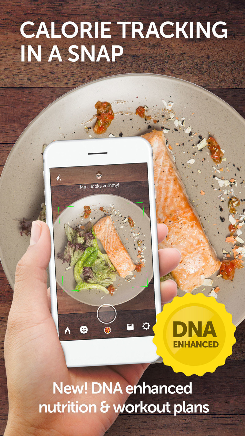 Calorie Mama AI - calorie counting simplified. Now DNA enhanced.