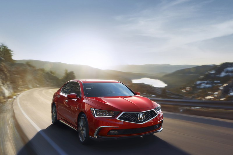 2018 Acura RLX Sport Hybrid in Brilliant Red Metallic, the brand's most sophisticated and best performing sedan ever.