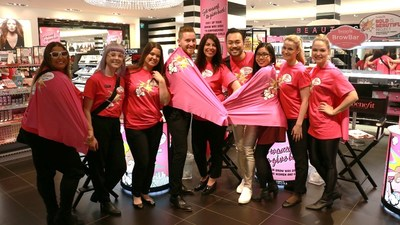 The Benefit Canada team celebrating the Bold is Beautiful program at Sephora. (CNW Group/Benefit Cosmetics)