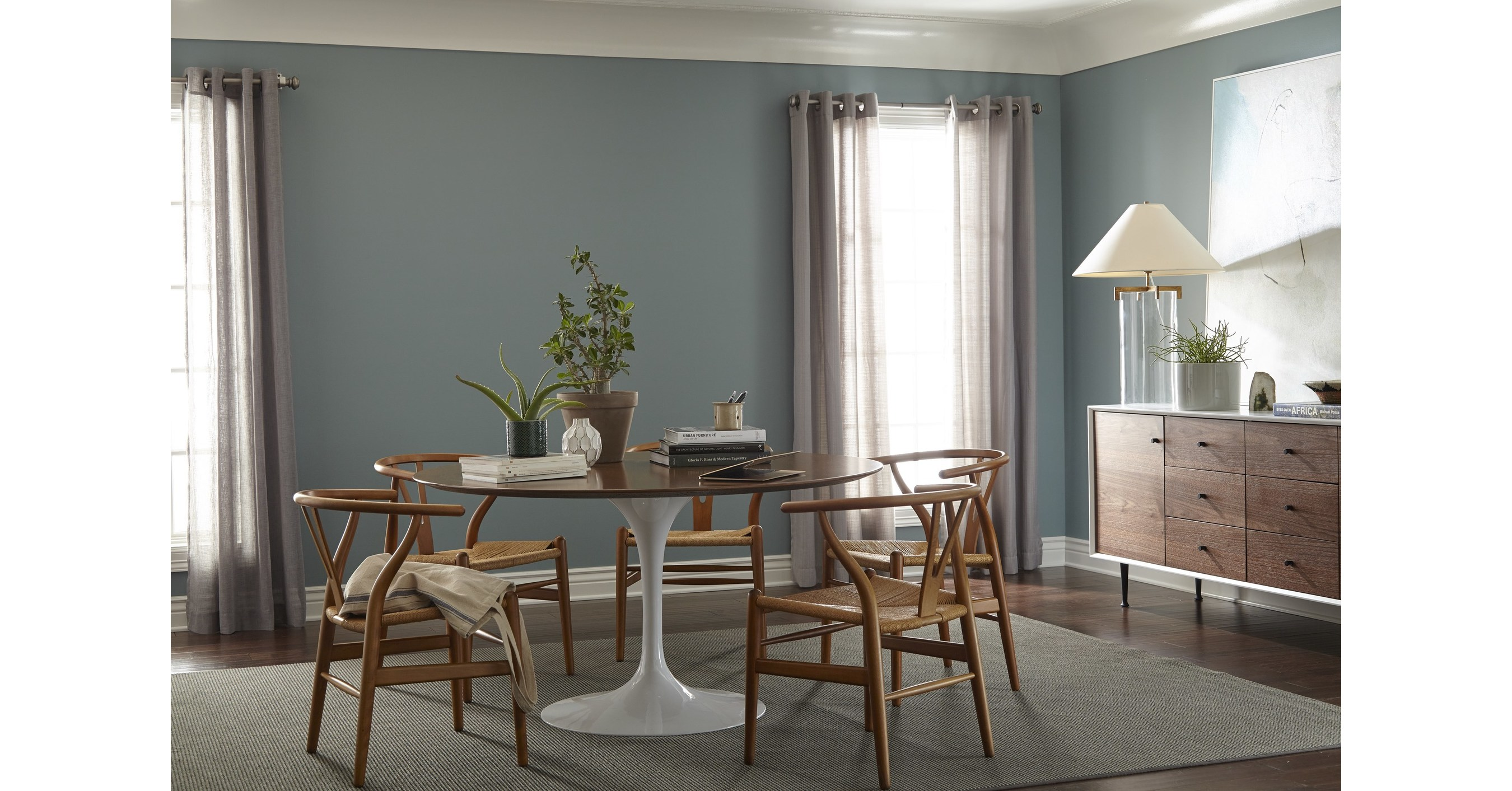 Behr paint reveals 2018 color of the year in the moment for Dining room designs 2018