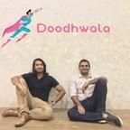 Doodhwala Founders - Ebrahim Akbari and Aakash Agarwal (left to right) (PRNewsfoto/Doodhwala)
