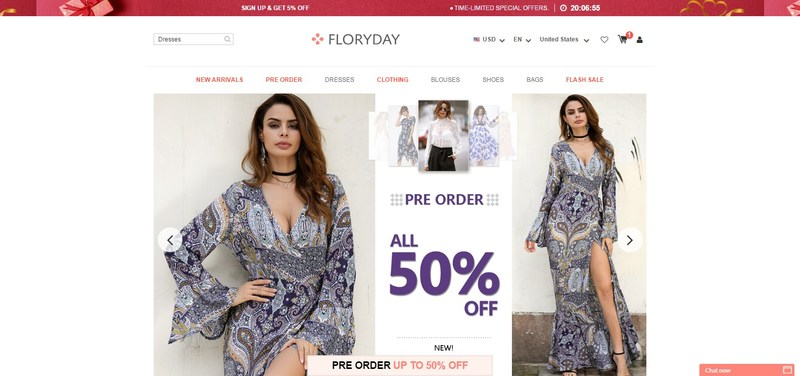 Floryday is an online shopping mall featuring the latest in women's fashion apparel and fashion accessories. (PRNewsfoto/Floryday)
