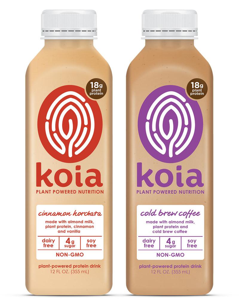 Koia's new Cold Brew Coffee and Cinnamon Horchata flavors.