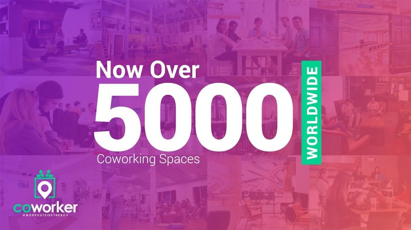 Coworker.com Surpasses 5,000 Spaces and Onboards WeWork & Premier Business Centers