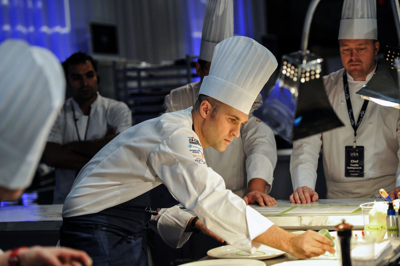 Mathew Peters 2017 Bocuse d'Or winner at 2015 Team USA Selection (photo credit Ken G)