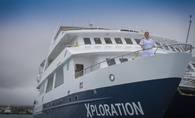 Captain Nathaly Albán of Celebrity Xploration, the first ever female captain in the Galapagos