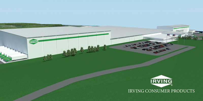 Irving Consumer Products Announces Expansion and Construction of New Tissue Production Plant in Macon, Georgia (CNW Group/Irving Consumer Products)