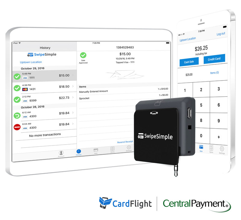 CardFlight's SwipeSimple mobile POS solution is built for merchants on-the-go
