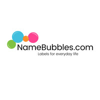 Personalized name labels for school can be purchased at NameBubbles.com