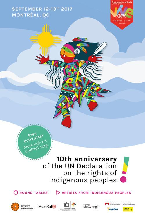 Celebration of the 10th anniversary of the United Nations Declaration on the Rights of Indigenous Peoples (CNW Group/Ville de Montréal - Cabinet du maire et du comité exécutif)