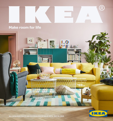 2018 IKEA Catalogue set to land in mailboxes across Canada (CNW Group/IKEA Canada)