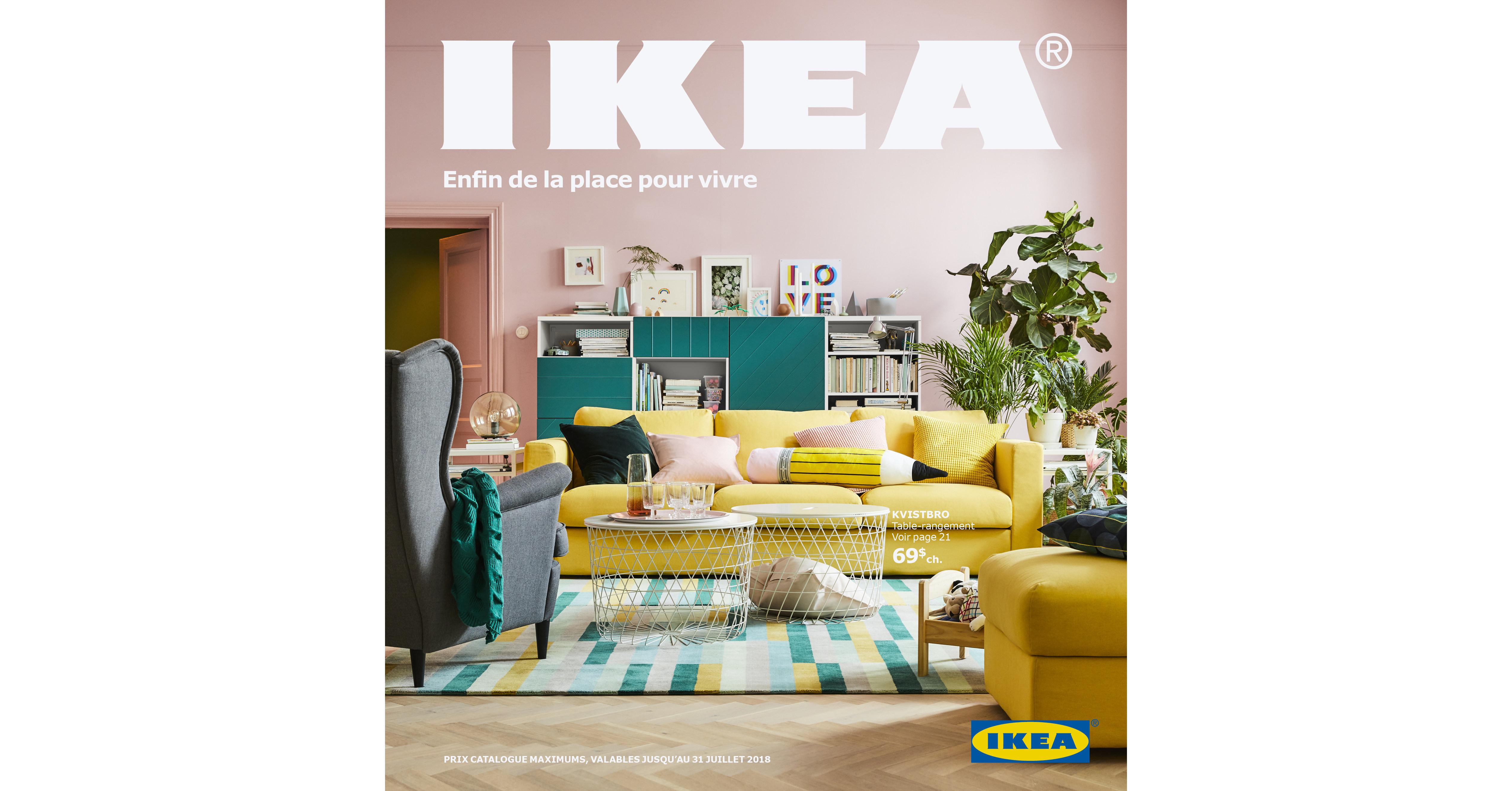 cnw le catalogue ikea 2018 arrive bient t dans toutes les bo tes aux lettres du canada. Black Bedroom Furniture Sets. Home Design Ideas