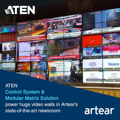 ATEN Control System & Modular Matrix Solution Power Huge Video Walls in Artears State-of-the-art Newsroom