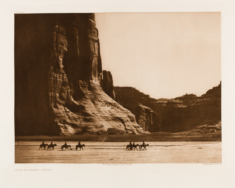 Edward Sheriff Curtis, The North American Indian, Volume 1 Portfolio, Plate 28, Canyon De Chelly - Navaho, 1904, Photogravure