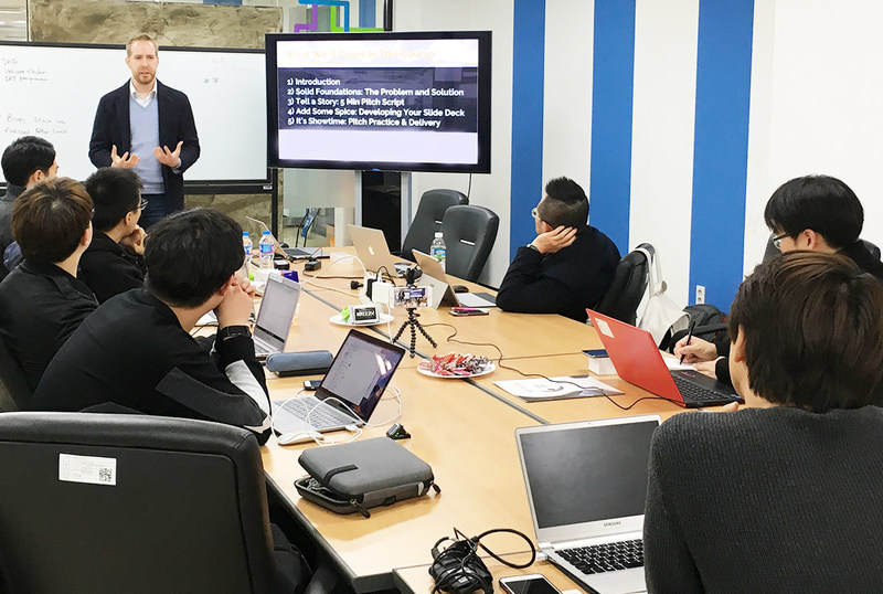 Successful foreign entrepreneur provides guidance to startup founders in Korea.