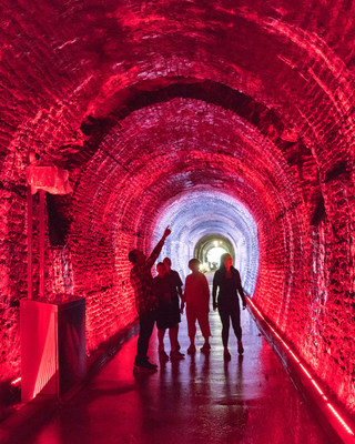 The newly restored Brockville Railway Tunnel illuminated with Philips Color Kinetics dynamic LED lighting opens to the public this Saturday.  Photo courtesy of Keith Hare, City of Brockville. (CNW Group/Philips Lighting Canada)