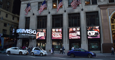 SNA Displays integrated LED display system installed for MSG Networks, New York City