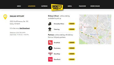 Dickey's guests have the ability to easily place online orders for what is most convenient to them, whether it be delivery through third party vendors or in-store pick up.