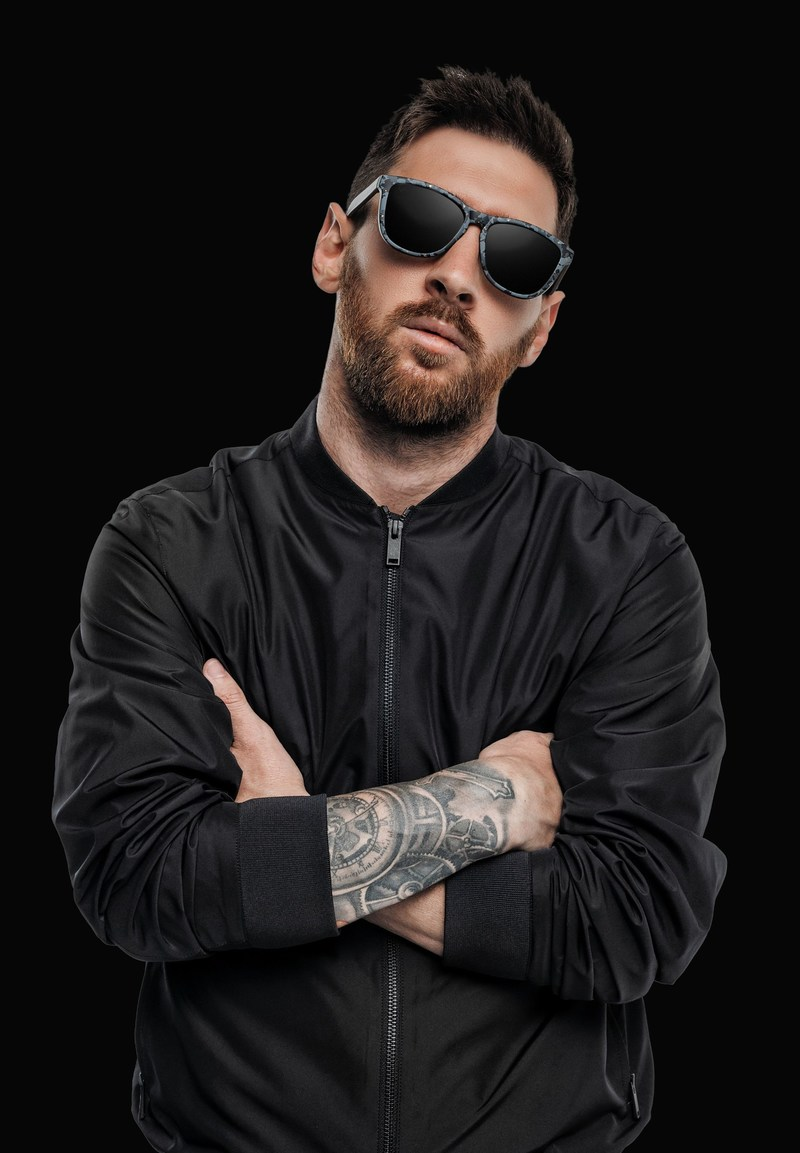 Leo Messi wearing his limited edition Hawkers & collaboration sunglasses