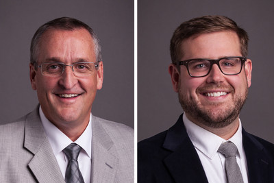 Steve Schmidt, left, and Donny Cerwick of Burns & McDonnell in Omaha, Nebraska.