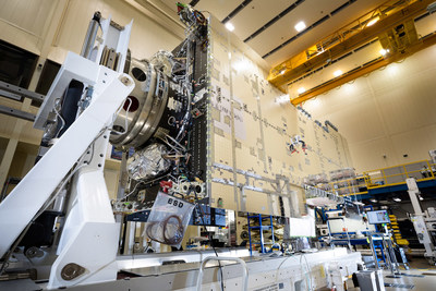 In a clean room near Denver, Lockheed Martin's first modernized A2100 satellite has undergone the important integration process of three major subsystems.