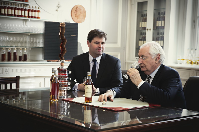Renaud Fillioux de Gironde, 8th generation Master Blender and his uncle, Yann Fillioux 7th generation Master Blender