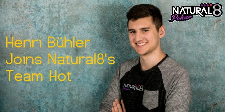 Henri Bühler joins team Natural8! (PRNewsfoto/Natural8)