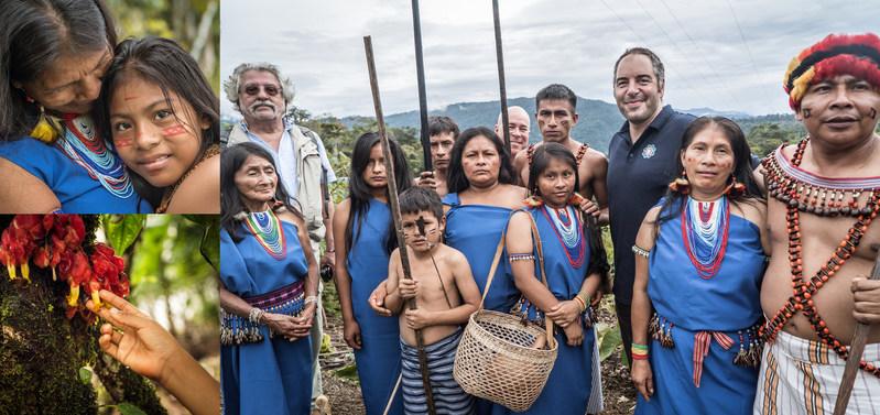 Professor Maurizio Gnerre, Timothy Rose, & Kamal El-Wattar of Vitanova with members of the Amazon Shuar Tribe.