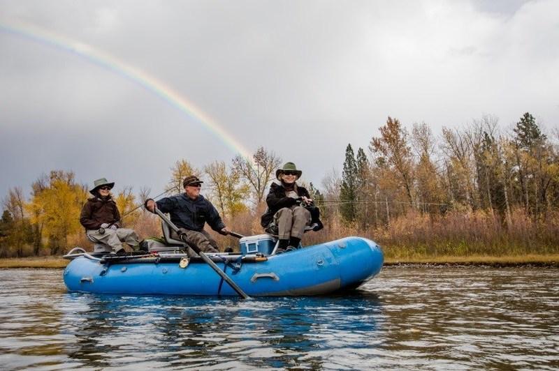 Tom Jenni fly fishing on the Blackfoot River