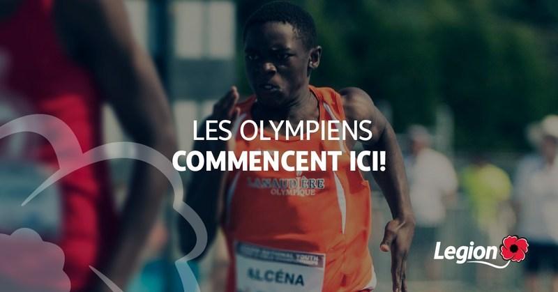 Les Olympiens Commencent Ici (Groupe CNW/Légion royale canadienne)