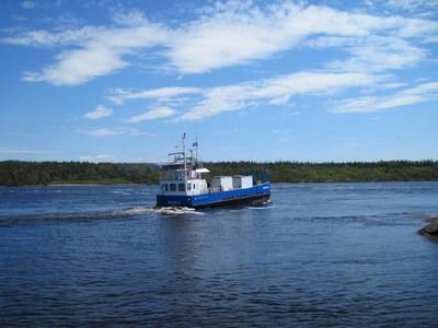 Mécatina II.jpg - photographie de la barge Mécatina II, source : Société des traversiers du Québec (Groupe CNW/Société des traversiers du Québec)