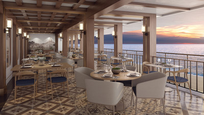 A Norwegian Cruise Line favorite, guests can savor the tastes of Tuscany at La Cucina, featuring waterfront dining to enjoy the spectacular views