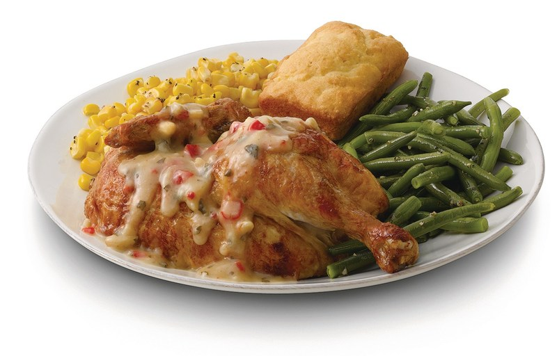 New Creamy Garlic rotisserie chicken available now for a limited time