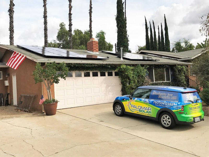 El Cajon, CA home solar system installed by Palomar Solar