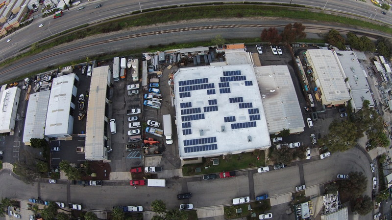 Palomar Solar's own rooftop installation at the company headquarters in Escondido, CA
