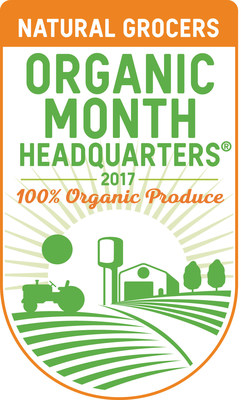 "In 2016, Natural Grocers coined the title of ""Organic Headquarters"" to celebrate the company's long history of selling only organically grown produce. (PRNewsfoto/Natural Grocers by Vitamin...)"