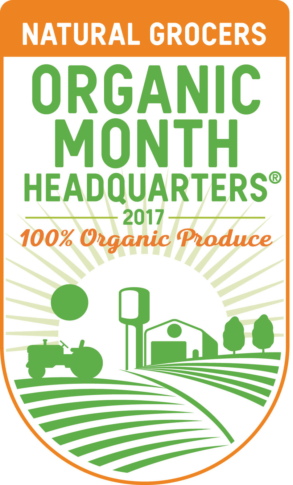 """In 2016, Natural Grocers coined the title of """"Organic Headquarters"""" to celebrate the company's long history of selling only organically grown produce. (PRNewsfoto/Natural Grocers by Vitamin...)"""