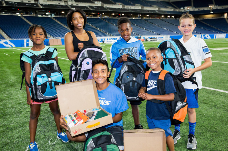 About 50 children from Big Brothers Big Sisters of Metropolitan Detroit and Detroit PAL received school supplies and backpacks from Ally Financial to help them get a head start on the upcoming school year.