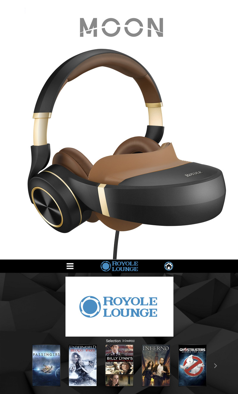 With every new purchase of a Royole Moon, consumers will be offered three SD, HD or 3D movies from Sony Pictures Home Entertainment (SPHE) redeemable through the Royole Lounge app, the built-in dedicated entertainment hub for all Moon owners in North America.