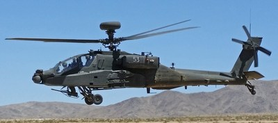 Photo of sample military helicopter by US Army [public domain] via Wikimedia Common (PRNewsfoto/Orbit Communications Systems Ltd)