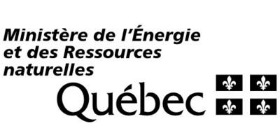 Logo : Ministère de l'Énergie et des Ressources naturelles (Groupe CNW/Cabinet du ministre de l'Énergie et des Ressources naturelles)