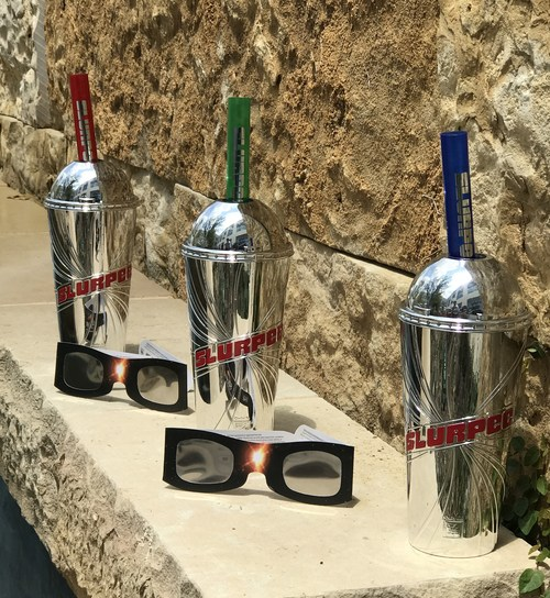 """Sun-worshippers not wanting to be left in the dark when the """"Great American Eclipse"""" crosses the U.S. can hit 7-Eleven stores for special – and safe – sunglasses to view the Aug. 21 phenomenon. Available in a two pack and single pack, the """"Explore Scientific Sun Catcher"""" solar eclipse glasses offered by 7-Eleven are approved for viewing by the American Astronomical Society (AAS)."""