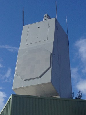 AN/SPY-6(V) array installed at the U.S. Navy's Pacific Missile Range Facility, Kauai, Hawaii