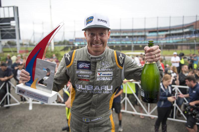 Patrik Sandell celebrates second place at Red Bull GRC Atlantic City
