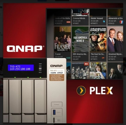 The QNAP TVS-x73 Series NAS delivers exceptional performance for your Plex Media Server.