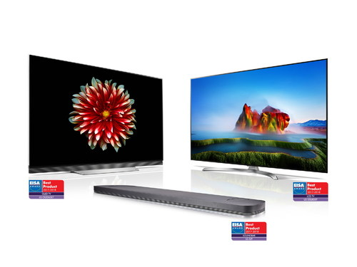 2017 LG OLED, SUPER UHD TV and sound bar earn top honors from European Imaging and Sound Association (EISA).