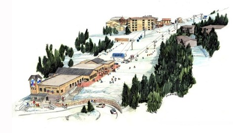 Taos Ski Valley's updated Children's Center is easily connected to the main base plaza with a new pulse gondola. The resort has also created an entirely new area for beginner skiers and snowboarders of all ages to help them learn in a more gradual way.