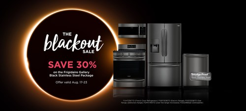 Frigidaire Gallery is holding its first-ever Blackout Sale, featuring products from the company's new Smudge-Proof™ Black Stainless Steel collection.