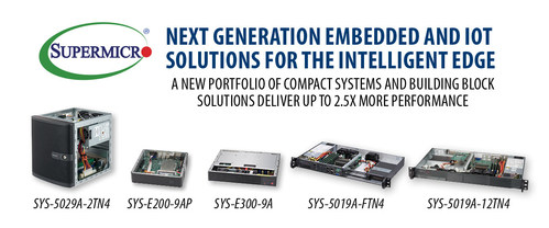 Supermicro's new Atom C3000 solutions deliver 2.5X more performance to Intelligent Edge Computing.
