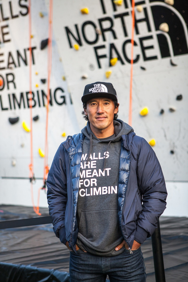 Climber Jimmy Chin at Outside Lands in San Francisco. Photo Credit: Tim Gonzalez Mena